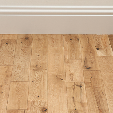 Solid Oak Rondo Natural Lacquered 18mm X 125mm