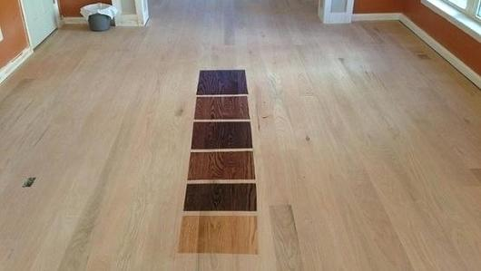 Choosing the right Color Stain for your sanded down unfinished floor..